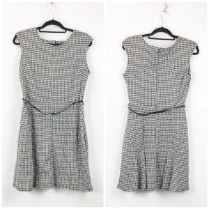 Merona Black White Hound-soothe A-line Dress